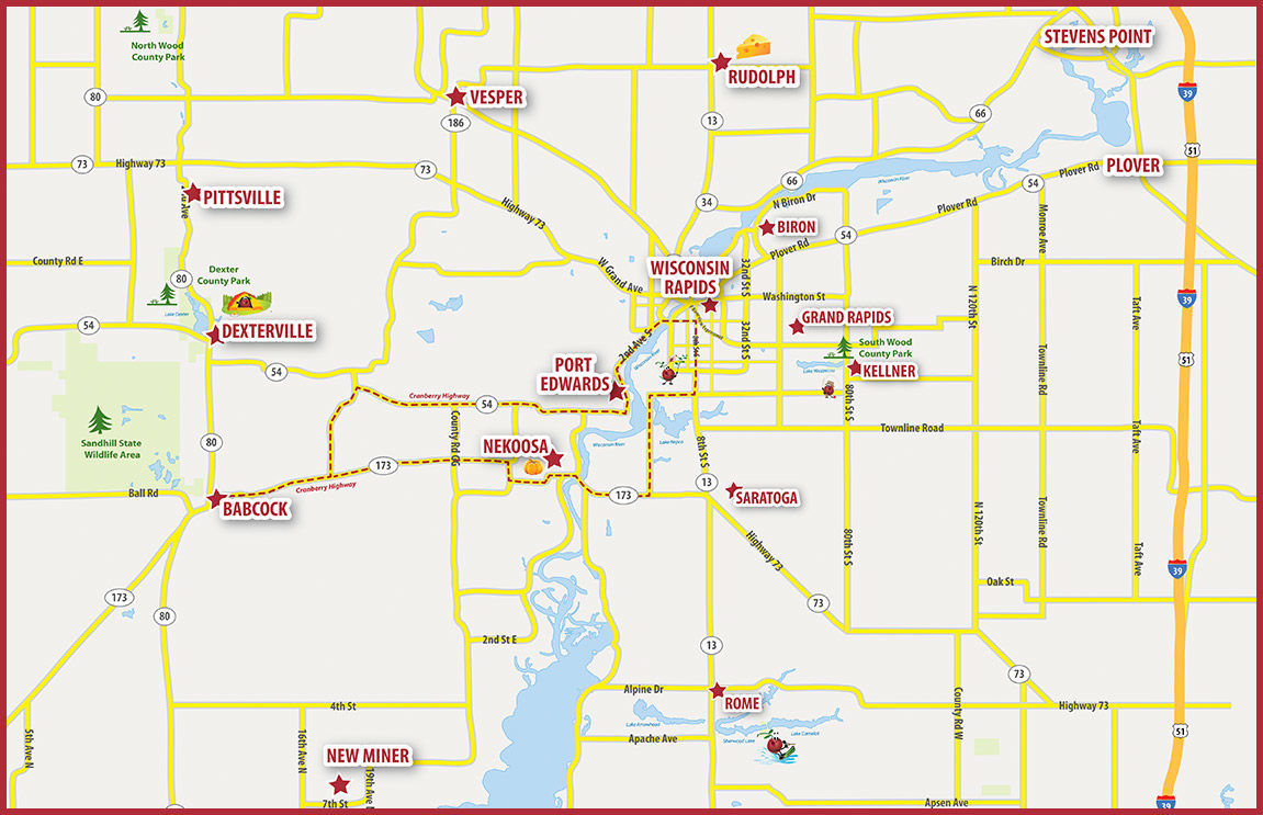 Wisconsin Cranberry Trail Map
